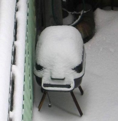 7. The barbecue has had enough of being left out in the cold